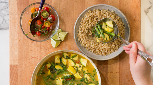 how to cook lemongrass in thai green curry