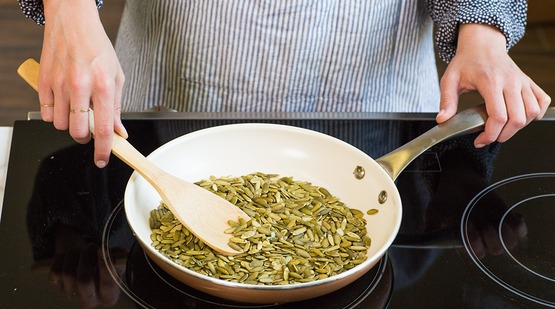 Toast the pumpkin seeds