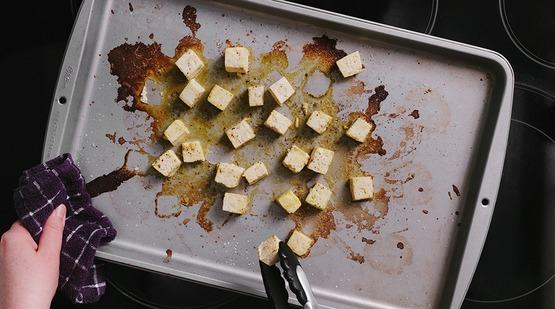 how to make palak paneer tofu
