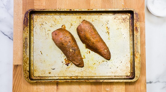 Bake the sweet potato