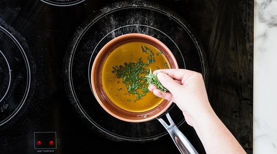 Make the tarragon vinaigrette