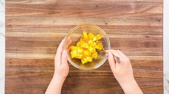 Make the mango salad