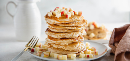 Autumn Pancakes with Apple & Sweet Cinnamon Butter