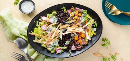 Mexican Cobb Salads with Avocado & Cilantro Lime Dressing
