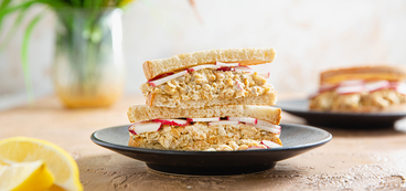 Sunflower Chickpea Sandwiches with Dijon Mustard & Radishes