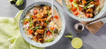 Thai Lemongrass Soup with Crispy Mushrooms & Tofu