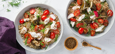 Grape Leaf Mezze Bowls with Cashew Cheese & Fresh Dill