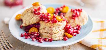 Homemade Biscuits with Winter Fruit