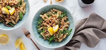 Chickpea Pasta with Broccolini & Garlic Herb Cashew Cream