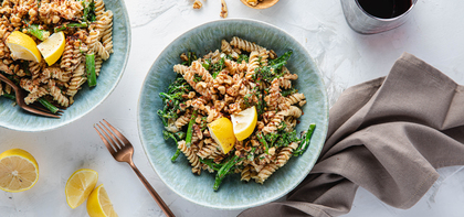 Chickpea Pasta with Broccolini & Garlic Herb Cashew Cream