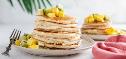 Tropical Coconut Pancakes with Mango & Kiwi