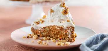 Carrot Cake topped with Coconut Bliss