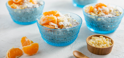 Coconut Chia Pudding with Clementine & Ginger