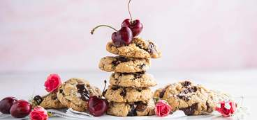 Salted Cherry Chocolate Chunk Cookies