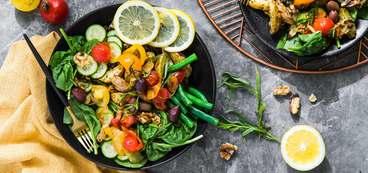 Nicoise Salad with Roasted Mustard Potatoes and Cherry Tomato Vinaigrette