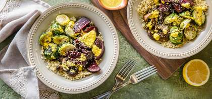 Forest Bowl with Earthy Vegetables & Turmeric Cashew Sauce