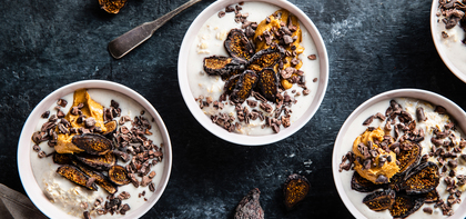 Peanut Butter Overnight Oats with Dried Figs & Cacao Nibs