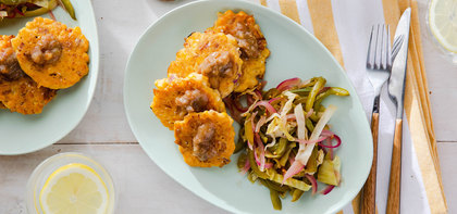 Southern-Style Corn Fritters with Chowchow Slaw & Date Butter