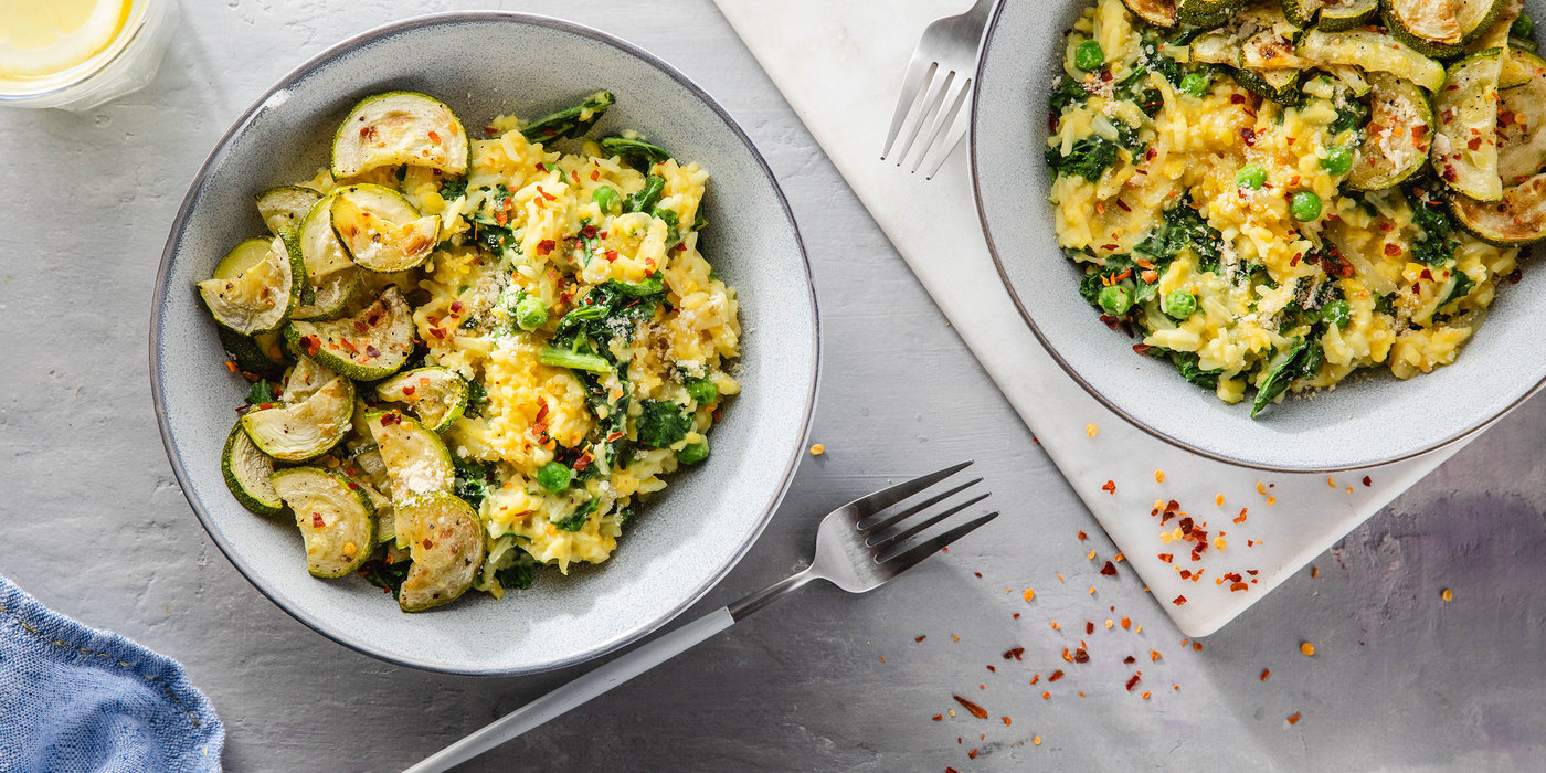 Risotto Milanese with Saffron Rice & Spring Vegetables