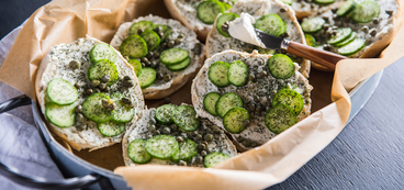 Caper Dill Bagels with Herbed Cashew Cheese
