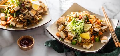 Mee Goreng with Crispy Tofu & Gai Lan