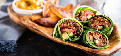 Collard Green Burritos with Walnut Meat & Queso