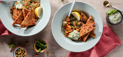 Tandoori Tempeh with Jeweled Buckwheat & Raita