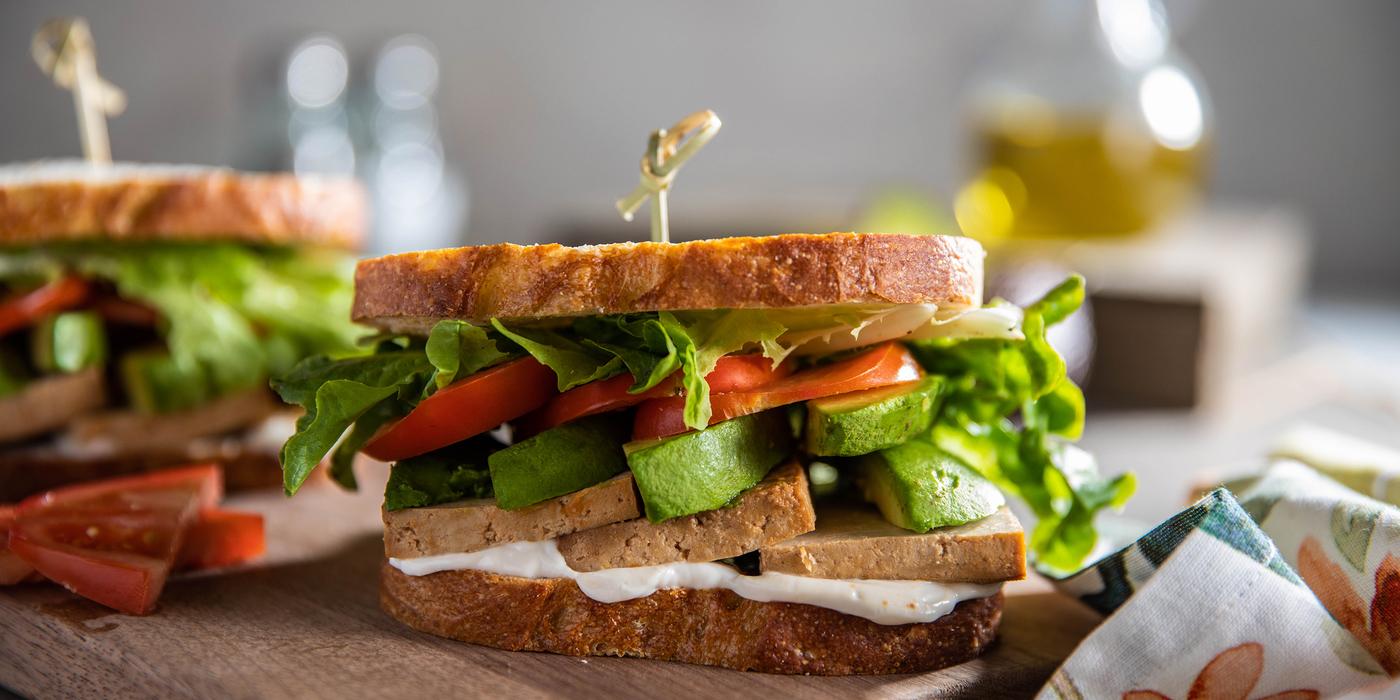 Tofu Sandwiches with Tomato, Lettuce & Avocado