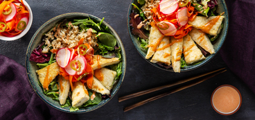 Vietnamese Tofu Bowls with Brown Rice & Quick Pickles