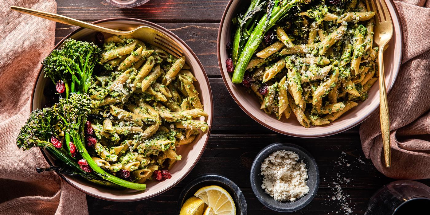 1400 700 vegan sagewalnutpestopennewithcrispybroccolini horizontal