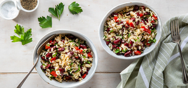 Kidney Bean Salads with Roasted Red Peppers & Parsley