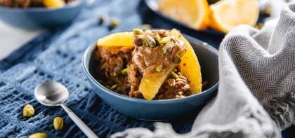 Baklava Overnight Oats with Pistachios & Oranges