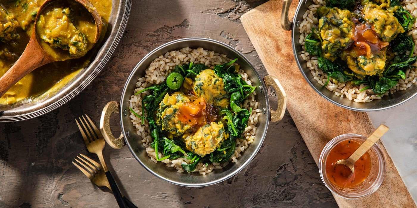 1400 700 vegan punjabi kadhi with spinach dumplings   mango chutney hero 2