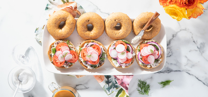Caper Dill Bagels with Everything Cream Cheese