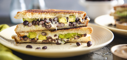 Black Bean Avocado Melts with Chipotle Aioli