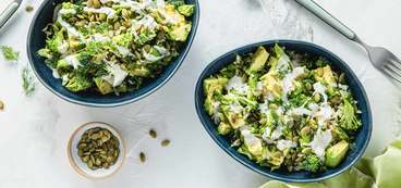 368 173 vegan green goddess bowls with broccoli   ranch dressing horizontal