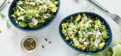 Green Goddess Bowls with Broccoli & Ranch Dressing