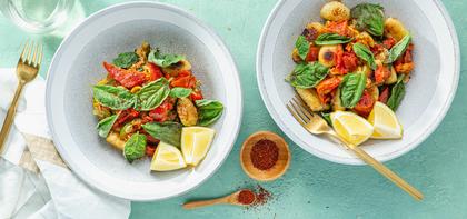 Parmesan Gnocchi with Melted Summer Squash & Basil