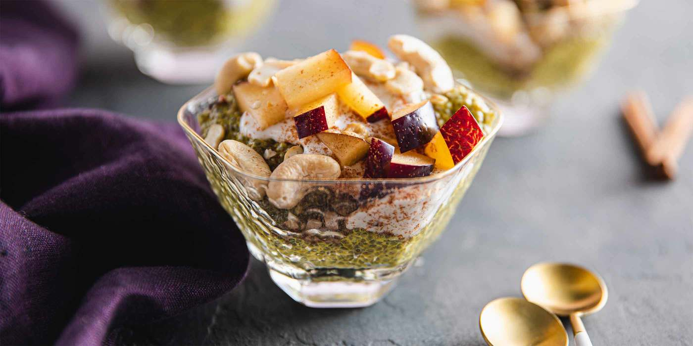 1400 700 vegan golden milk chia pudding with fresh plums   cashews horizontal