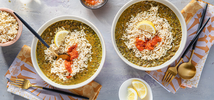 Dal Makhani with Brown Basmati Rice & Tomato Chutney