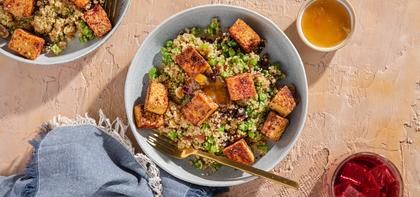 Tandoori Spiced Tofu with Apricot Quinoa Pilaf & Mango Chutney