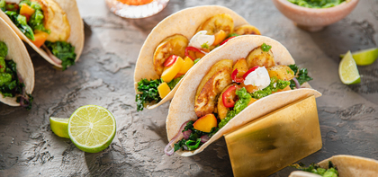 Crispy Plantain Tacos with Fiery Green Sauce & Apricot