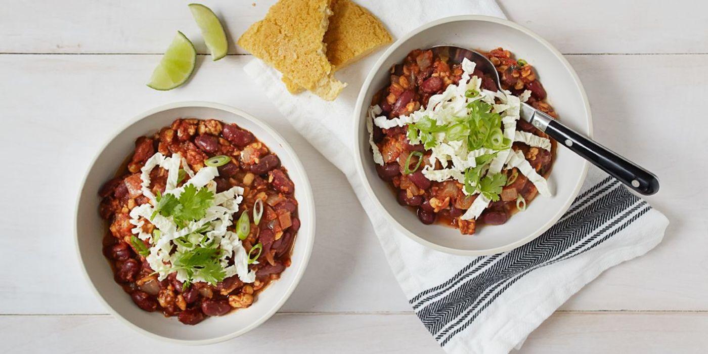 Chili non Carne with Masa Flatbread