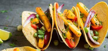 Butternut Squash Tacos with Sweet Sriracha Glaze