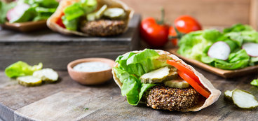 Quinoa Burgers with Creamy Ranch and Butter Lettuce Salad
