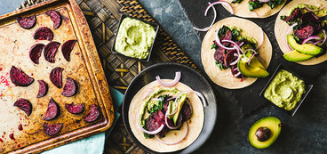 Wicked Healthy Beetroot Tacos with Avocado Salsa