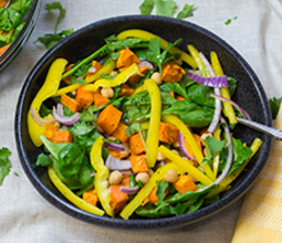 Sweet Potato and Chickpea Salad with Spiced Date Vinaigrette image