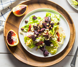 Blood Orange Winter Salad with Roasted Beets & Ginger Miso Dressing