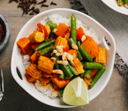 Vegetable Massaman Curry with Sweet Potatoes and Peanuts
