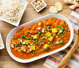 Tofu Tikka Masala with Spring Vegetables & Brown Basmati Rice